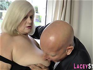 poked granny boobs plumbed