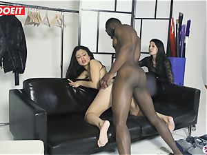 porn star humps Random first-timer dude With wife Filming