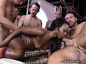 black Skyler Nicole luvs buttfuck intercourse and gang-bang