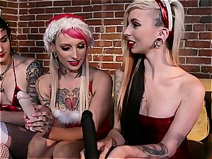 Joanna Angel's lezzie Christmas soiree