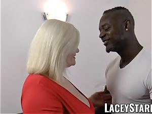 LACEYSTARR - grandma anally creampied with bbc