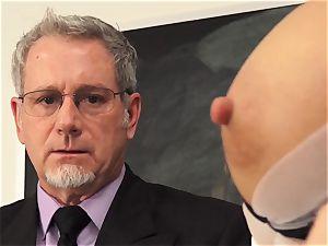 Tantalising professor Riley Steele classroom humping