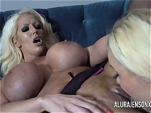 Alura and her huge-boobed lesbo friend Dolly get super-naughty