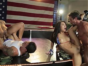 Asa Akira and Bridgette B give a sensational flash