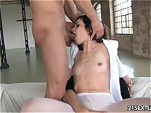 Valentina gets her cock-squeezing arse nailed