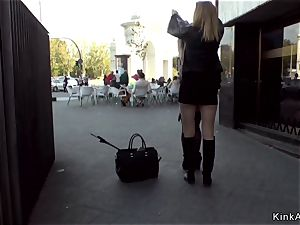 slender Spanish superslut ass fucking nailed in public