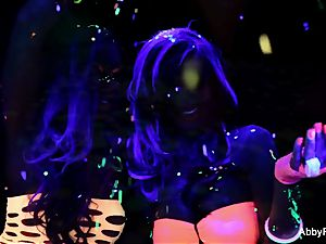 magnificent blacklight fun with Abigail Mac