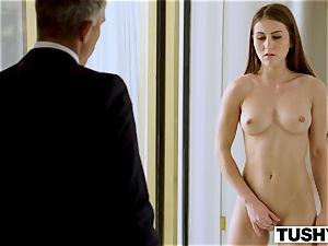 TUSHY secretary Makes Her boss Work For ass fucking