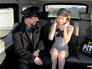 fucked IN TRAFFIC - red-hot Russian teen nails in the car