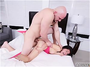 pipe hard-core sploog and milf gang-fuck hard-core She gets her tiny cooter stuffed from various