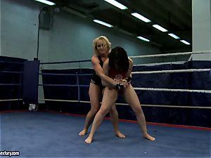 Aagell Summers and Kathia Nobili super-fucking-hot struggle nude
