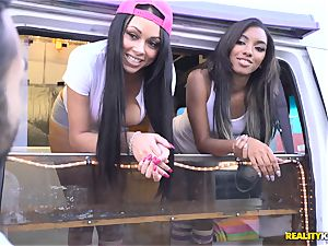 Raven Wylde and Bethany Benz facial cumshot in ice testicle tonic truck get fuckbox screwed