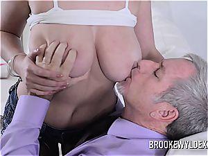 nubile Brooke Wylde Role have fun with elder guy