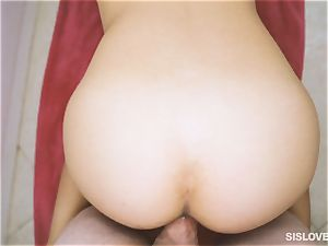 My black-haired sista Amina throating my boner