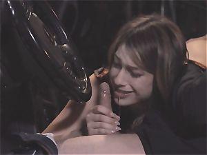 Camgirl part 2 - ultra-cute Kristen Scott fellating in the car