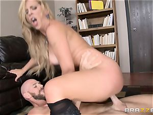 mummy manager Cherie Deville gets shafted by a giant dicked worker