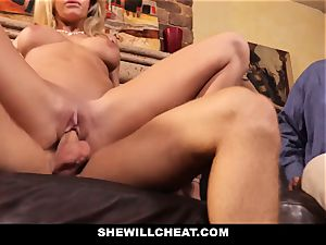 cheating husband witnesses Wifes cooter Get wrecked