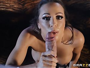 Abigail Mac crams her face with white-hot jizz