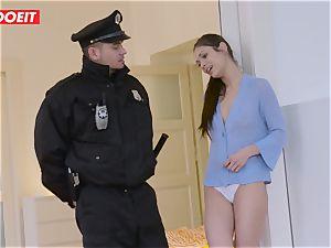 Immigration officer gets moist vag instead of the visa