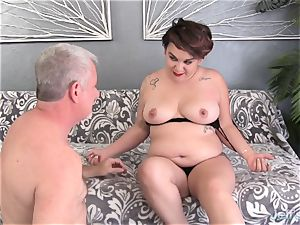lush newcummer plows and jism in the throat