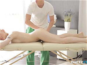 dirty Flix - romp on a folding rubdown table