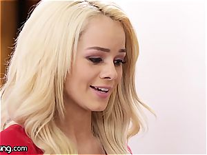 Elsa Jean and Jill Kassidy have fun some sizzling oral games