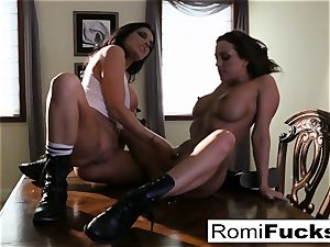 2 torrid lesbos smoke while playing with each other