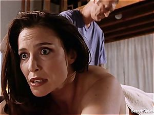 handsome Mimi Rogers gets her entire figure groped