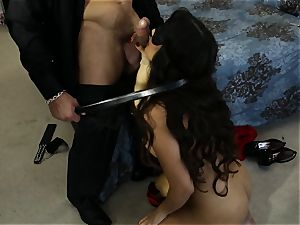 buxomy latina Mercedes Carrera pulverized in her tight raw puss