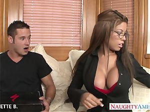 big-titted brown-haired Bridgette B. take stiffy