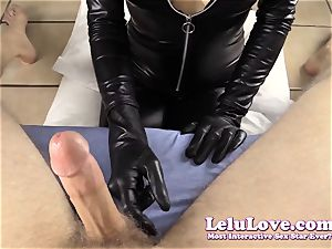 taunting and gargling YOUR fuck-stick in my catsuit