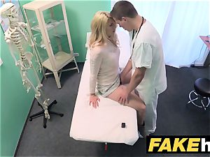 faux clinic sloppy doc gives platinum-blonde Czech babe