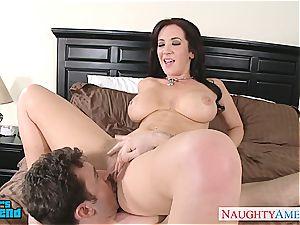 fabulous dark-haired Jayden Jaymes penetrating