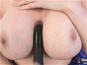 big-boobed Michelle B dildo romping