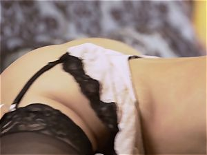 Nylons Sn 5 Britney Amber wears stunning tights as she smashes