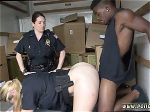 furry brown sphincter milf first time dark-hued suspect taken on a raunchy ride