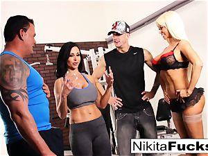 Nikita Von James joins a workout sex