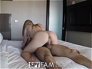 SpyFam brutal poke with step step-sister Alyssa Cole