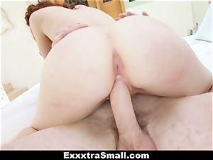 ExxxtraSmall - diminutive Alice Green's snatch humping!