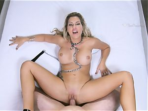 epic mummy Savanna Styles has hefty meatpipe plunged down her big-chested butt-hole