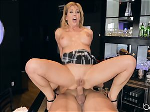 Cherie Deville kneads her poon on Roman
