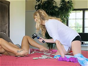 August Ames and Kenna James getting juicy on cam