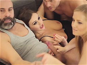 LOS CONSOLADORES - super-steamy swinger 4some with scorching stunners