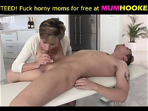 mother in marvelous undergarments entice her son-in-law and then fuck with him