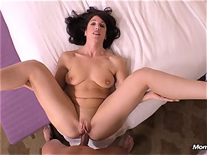 innocent brown-haired milf hotwife internal ejaculation wish