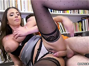 superb mexican bumpers professor Ariella Ferrera seduces youthful schoolboy