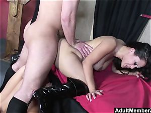 successful boy threeway with japanese mistresses