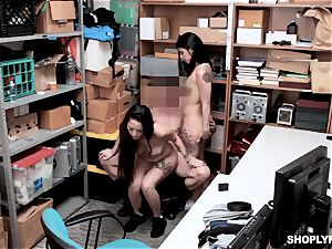 Gina Valentina and her stepsis pounded by mallcop