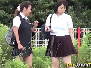 teen asians peeing
