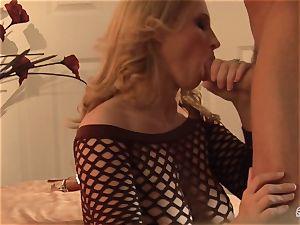 Devon Lee bopping the rigid bishop of her playmate